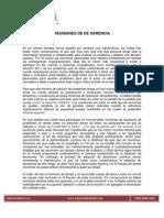 Artículo REUNIONES DE DE GERENCIA 0312