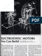 Electrostatic Motors You Can Build PS May 1971