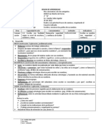 SESION DE APRENDIZAJE. comunicacion 1°B