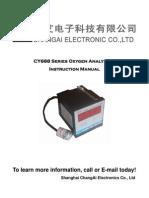 Anexo CY688 Series Oxygen Analyzer Instruction Manual