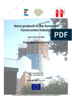 Nano-products in the European Construction Industry -  Executive Summary