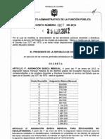tabla salarial docente del 1277 en el 2012
