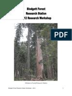 Proceedings of the 2012 BFRS Workshop