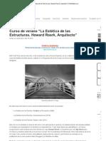"""Imprimir - Curso de verano """"La Estética de las Estructuras"""