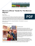 Mexico's Official Guide for the Mexican Migrant Sneaking Into the U.S.