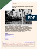 Mougeot, Luc. Agricultura urbana conceito e definição