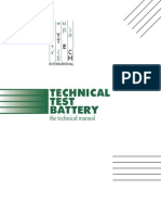 Technical Test Battery Manual