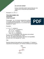 1.1 - Equações do 1º grau com uma variável