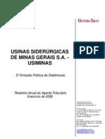Usiminas Relatorio 2008 Oliveira Trust 30 Abril 09