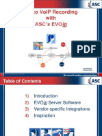 Cisco VoIP Recording with ASC's EVOip_ppt