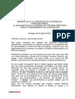 Lee el discurso completo del Presidente sobre #ReformaTributaria