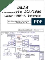 Toshiba Satellite a210 a215 - Compal La-3631p Ialaa - Rev 1a