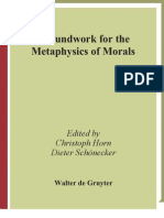 Ground Works for Metaphysics of Morals