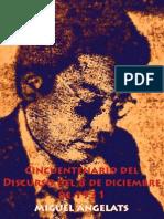 Cincuentenario del Discurso del 8 de diciembre de 1931 por Miguel Angelats
