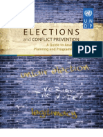 Elections and Conflict Prevention