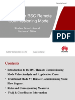Training for BSC Remote Commissioning Mode