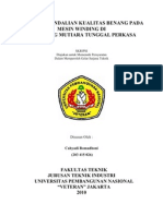 STUDI PENGENDALIAN KUALITAS BENANG PADA MESIN WINDING DI PT. BENANG MUTIARA TUNGGAL PERKASA