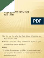 Child Labour Abolition