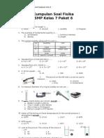 id Kumpulan Soal Fisika SMP Kelas 7 Paket 6