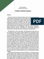 11_Euralex_Dirk Geeraerts - Varieties of Lexical Variation