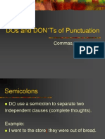 DOs and DON'Ts of Punctuation