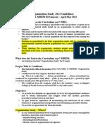 Organization Study 2012 Guidelines