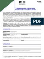Bouclier Fiscal Formulaire 2041 DRBF - Droit à restitution 2012