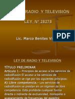 LEY  DE  RADIO  Y TELEVISIÓN