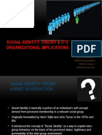 Social Identity Theory & it's Organizational Implications