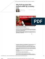 Arsenal Column_ Why Robin Van Persie Should Win the Writers' Player of the Year Award by a Landslide, By John Cross - John Cross - MirrorFootball.co