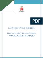 4 anni di governo di Pisa