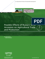 Possible Effects of Russia's WTO Accession on Agricultural Trade and Production