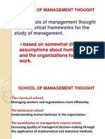 Schools of Management Thought