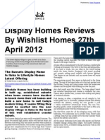 Display Homes Reviews By Wishlist Homes 27th April 2012