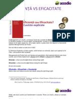 Eficienta vs Eficacitate, metoda Pareto in Managementul de Proiect