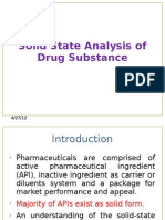 Solid State Analysis of Drug Substance