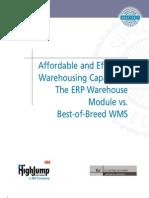ERP vs. Best-Of-Breed WMS