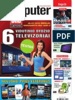 """5/2012 """"Computer Bild Lietuva"""" – Vidutinio dydžio televizorių testas"""