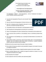 Estudo dirigido sobre ciclos biogeoquímicos 2012