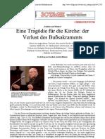 Kardinal Meisner über den Verlust des Bußsakraments - 30giorni Dokumentation