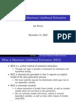 Intro to MLE