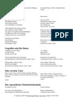 Katholische Grundgebete in Deutsch und Latein