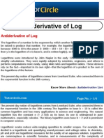 Anti Derivative of Log