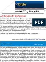 Anti Derivative of Trig Functions