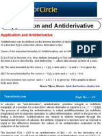 Application and Anti Derivative