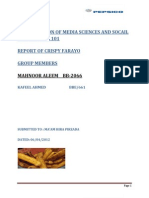 Introduction of Media Sciences and Socail Sciences Mds 101