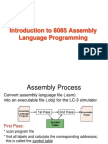 Mp Ch5 Introduction to 8085 Assembly Language Programming