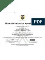 Certificado Sena Instalaciones Domiciliarias