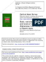 Centlivres - State National Awareness and Levels of Identity Afghanistan