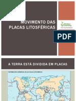 Movimento das Placas litosféricas-slidshare